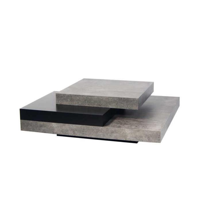 Table basse H 90 30 carrée x ciréNoir l 90 UBADIO L x Béton 8XOZPN0kwn