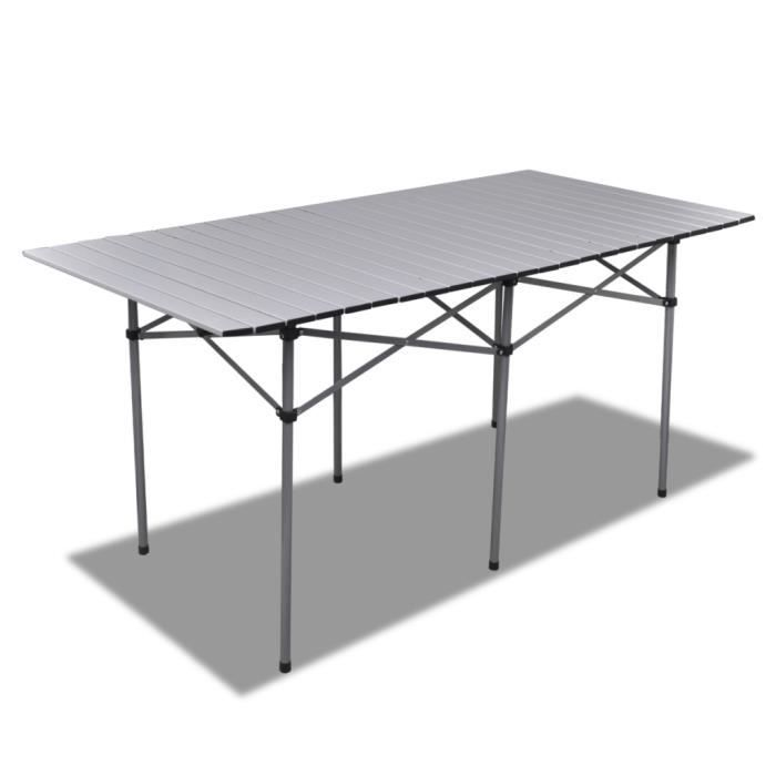 Table Pliable En Aluminium 140 X 70 X 70 Cm Achat Vente Table De Jardin Table Pliable En