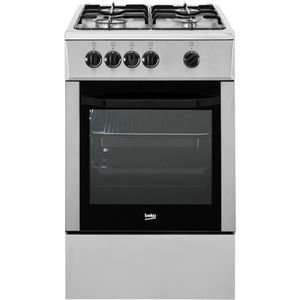 BEKO CSG52001DX - Cuisini?re table gaz - 4 foyers - Four gaz - Catalyse - 68 L - L 60 x H 85 cm - Inox