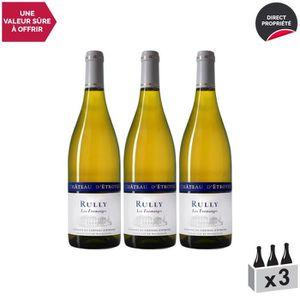 VIN BLANC Rully Les Fromanges Blanc 2018 - Lot de 3x75cl - C