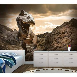 PAPIER PEINT dinosaures peint  papier peint enfants chambre t r