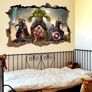 STICKERS Dessin animé film Avengers stickers muraux pour en