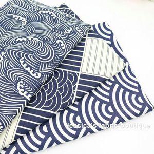 TISSU 3 pièces 50cm * 160cm Tissu de coton japonais pour