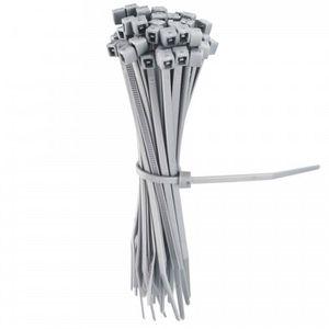 CLÔTURE - GRILLAGE Lot de 50 liens gris en plastique pour la fixation