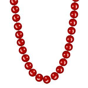 collier femme perle rouge