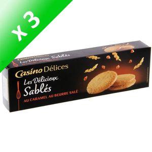 BISCUITS SABLÉS [LOT DE 3] CASINO DELICES Sablés caramel beurre sa