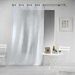 RIDEAU Rideau Effet Lin Haltonas blanc 140x240cm
