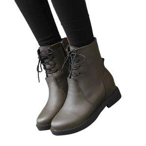 BOTTE Bottes femme Chaussures cheville Martin Bottes fem