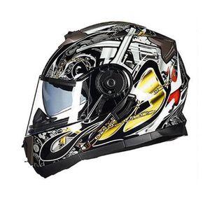 CASQUE MOTO SCOOTER Casque Moto Unisexe de Marque luxe Casque moto Dou