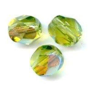 Cristal de Bohême 60 PERLES CRISTAL FACETTES 4MM JONQUILLE