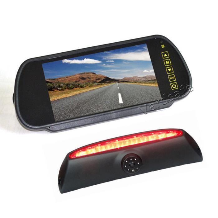 Vardsafe VS507K Caméra de recul pour feux de freinage & moniteur de rétroviseur à clipser de 7 pouces pour Iveco Daily Van 2006-2013