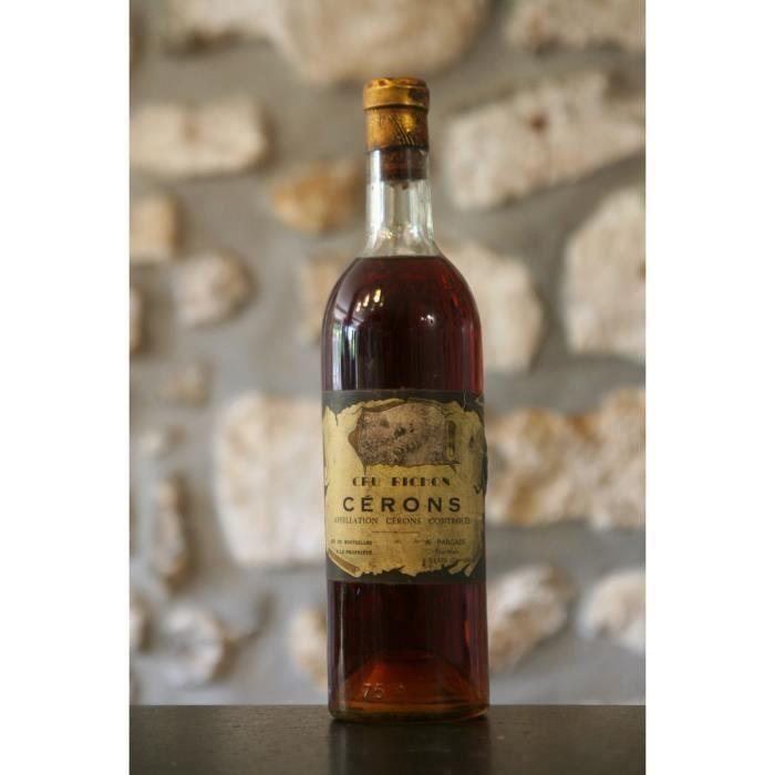 Vin rouge, Cru Richon, Cerons 1959 Blanc