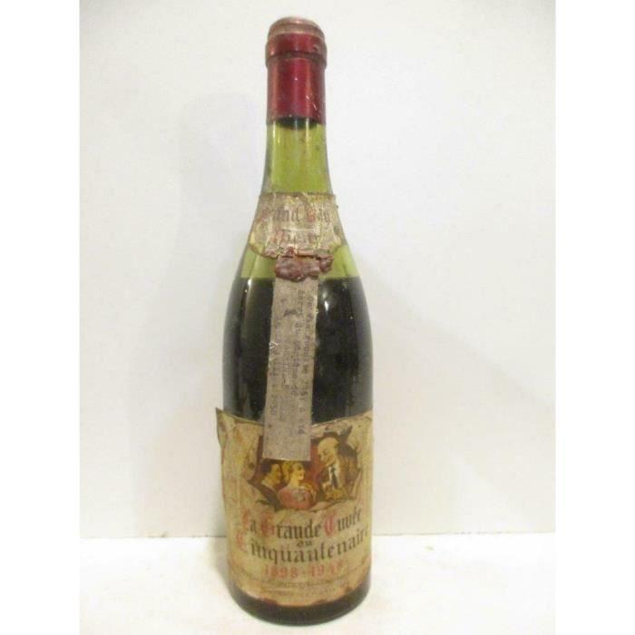 la grande cuvée du cinquantenaire 1898 - 1948 (non millésimé probablement 1957) rouge années 50 - vin de table