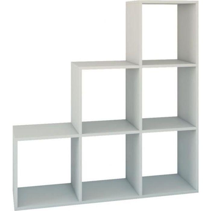 Bibliotheque Cube Blanc