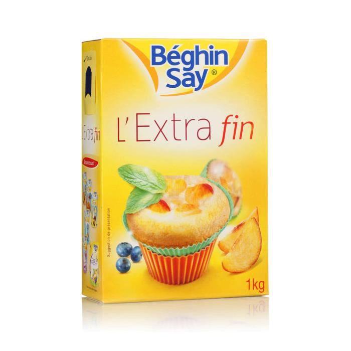 Sucre Extra fin Béghin Say très fluide - 1 Kg