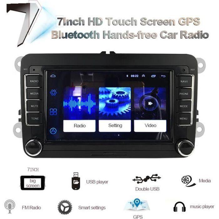 sans caméra Autoradio CANBUS, Navigation GPS, mirrorlink, Android, 2 Din, multimédia, pour voiture VW Polo, V