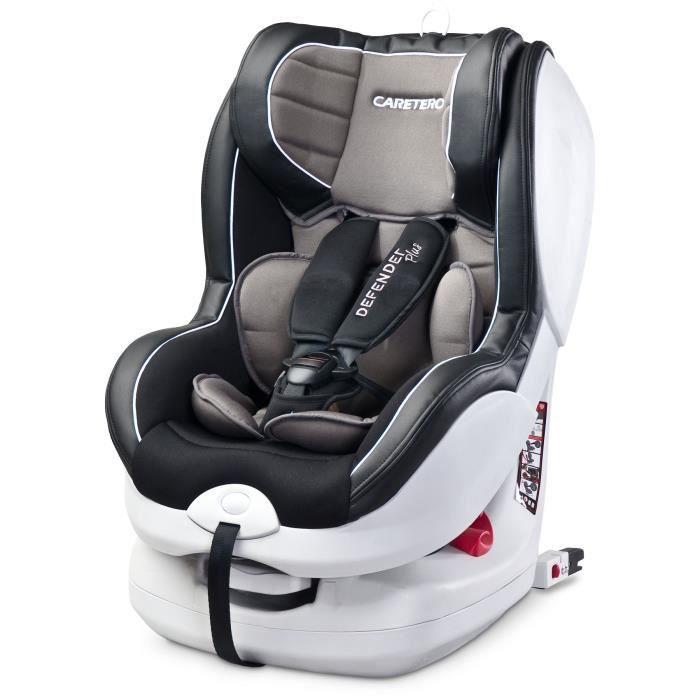 Siège auto groupe 0+/1 bébé 0-18 kg fixation face/dos route DEFENDER PLUS ISOFIX - Graphite.