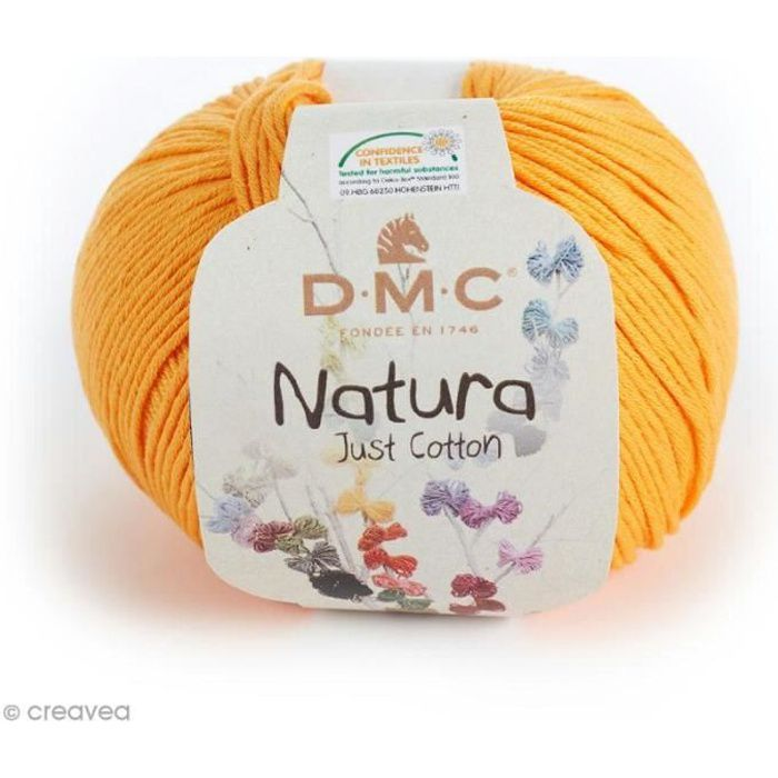 Fil DMC Natura - 50 gr Fil à crocheter ou à tricoter Natura Just cotton de DMC: 50 gr, soit environ 155 mètres100% cotonCouleur: