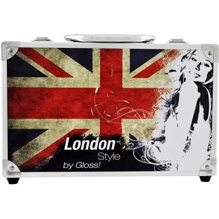 Coffret cadeau coffret maquillage mallette de maquillage collection Beauty Box London - 40pcs