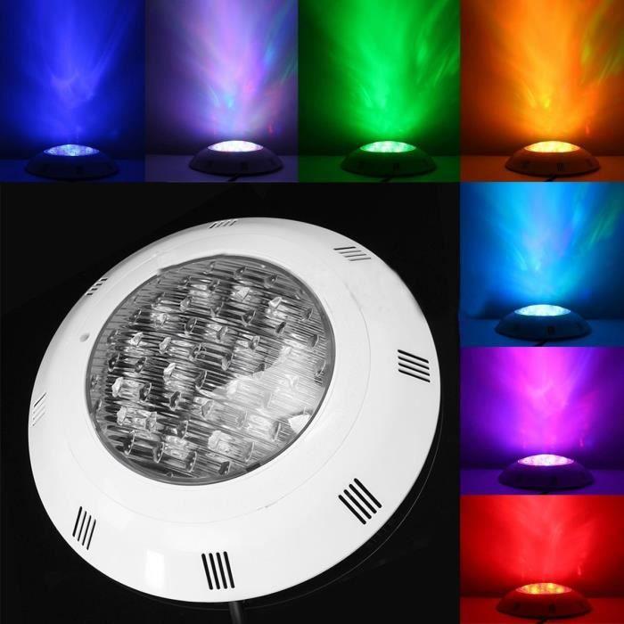 12V 24W IP68 Piscine Fontaine 7 Colors LED Lumière Projecteur Ampoule RGB Télécommande