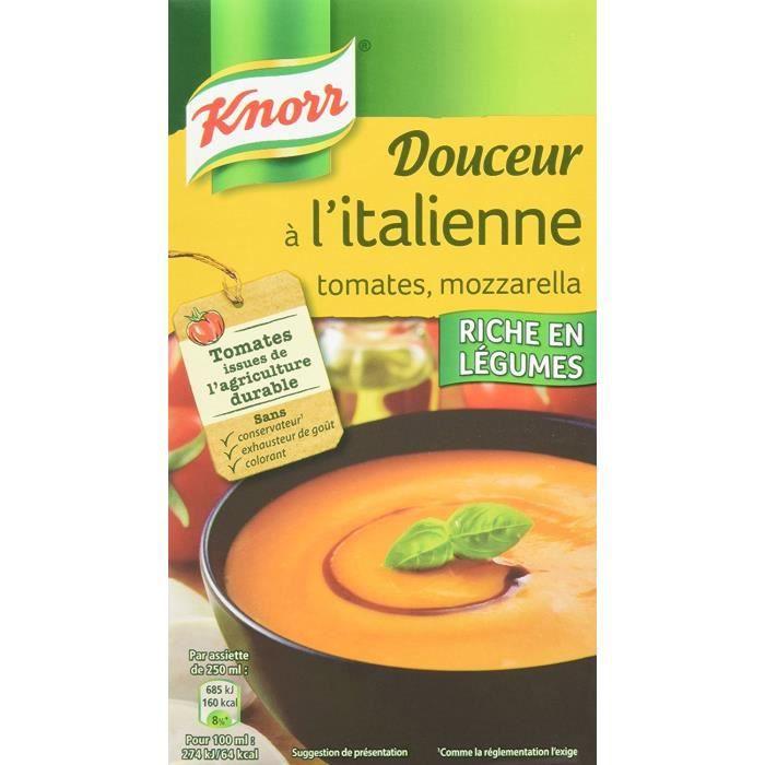Knorr Soupe Douceur à l'Italienne Tomates Mozzarella 1l