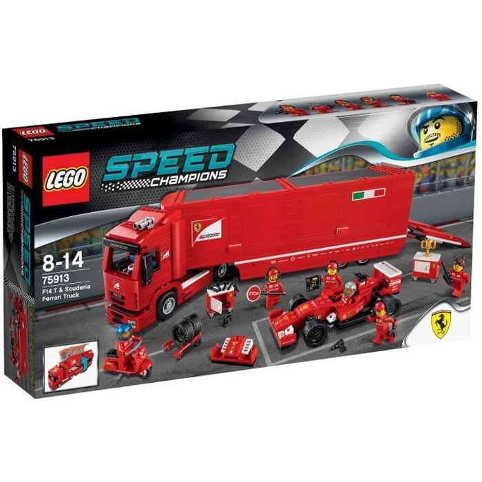 LEGO® Speed Champions 75913 F14 T et Camion Ferrari