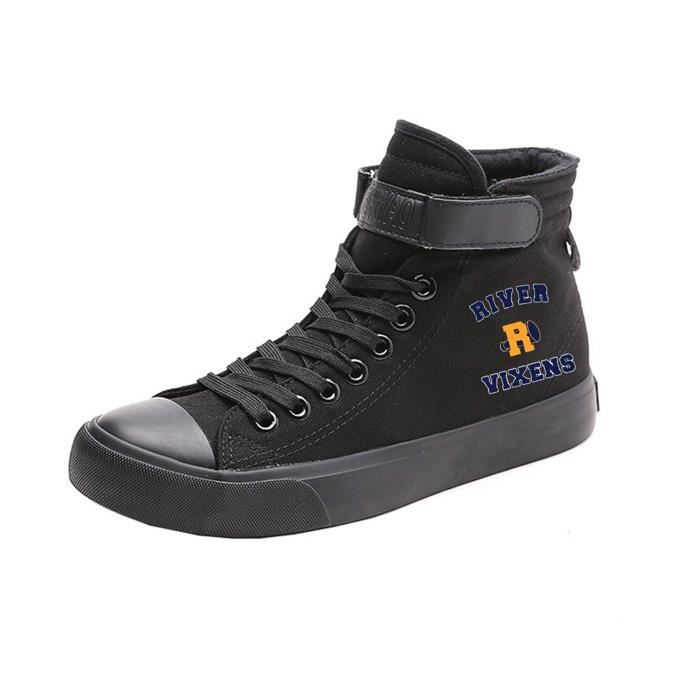 Bottines Professionnelles HXYFL Riverdale Chaussures de toile de Salut-Top Lacets Sneaker Mode Taille-38