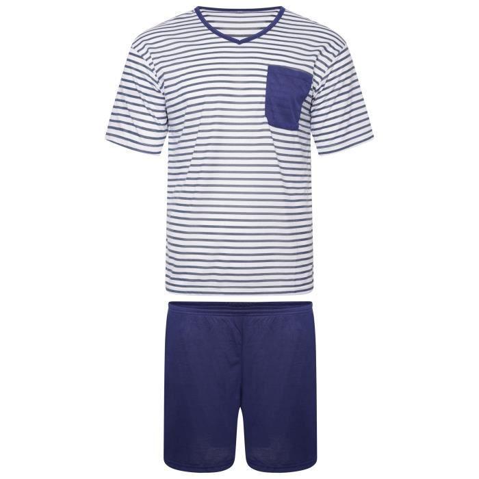 i-Smalls Pyjama Court Homme Super Doux Coton V Cou De Nuit