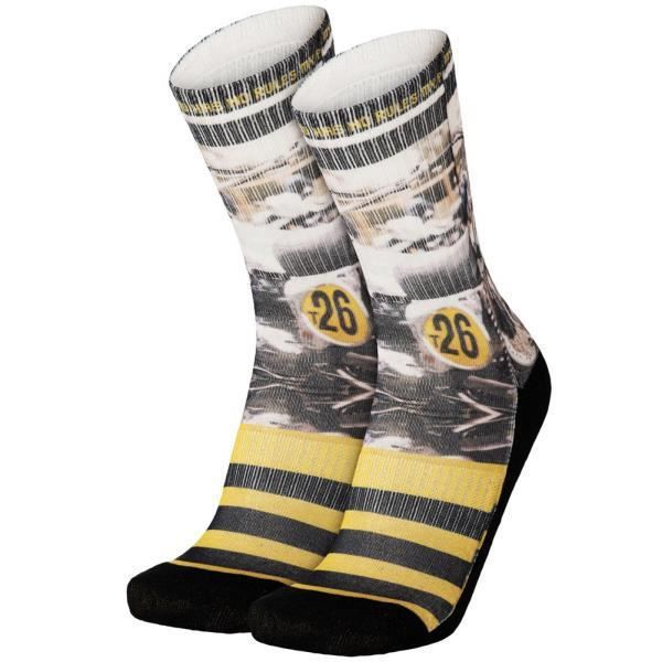 PULL IN Chaussettes Homme Microcoton BIKE26 Noir Jaune