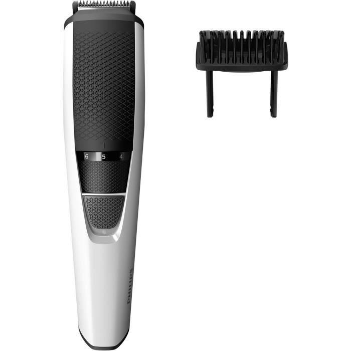 PHILIPS BT3206/14 Tondeuse Cheveux & Barbe - Série 3000 - 10 hauteurs de coupe - blanc