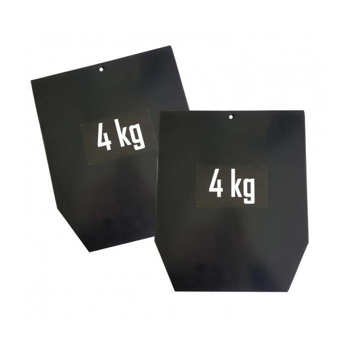 Plaque acier pour gilet pro 4 kg x2