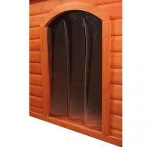 Trixie Porte plastique pour niche avec pignon