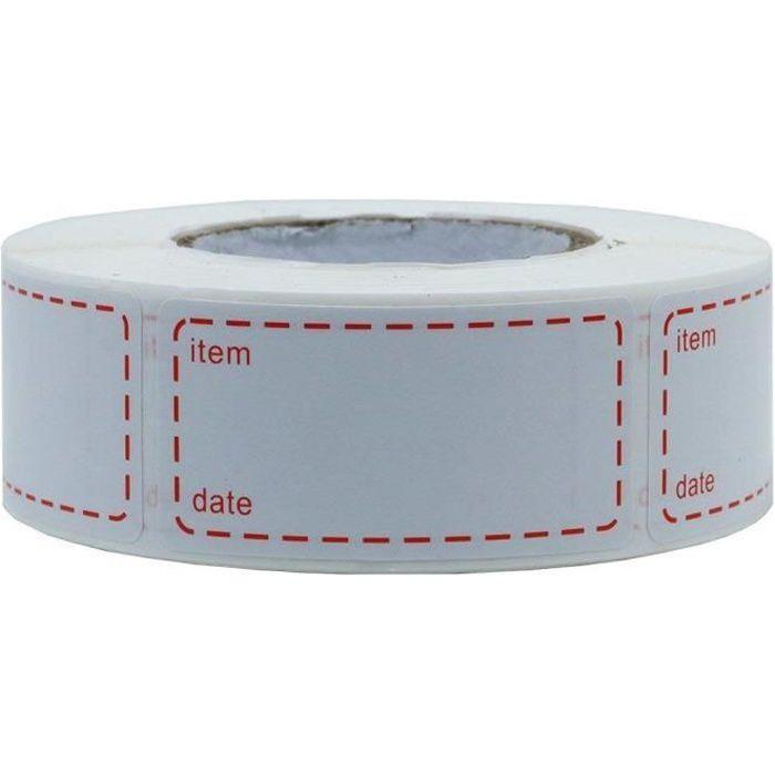 1 rouleau de 500 Étiquettes de congélation adhésive Étiquette De Congélateur 50 x 25 mm Étiquette Congelable Autocollante imprimée a
