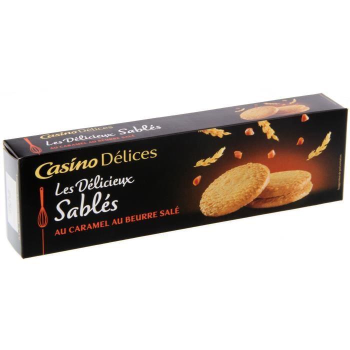 CASINO DELICES Sablés caramel beurre salé - 120g