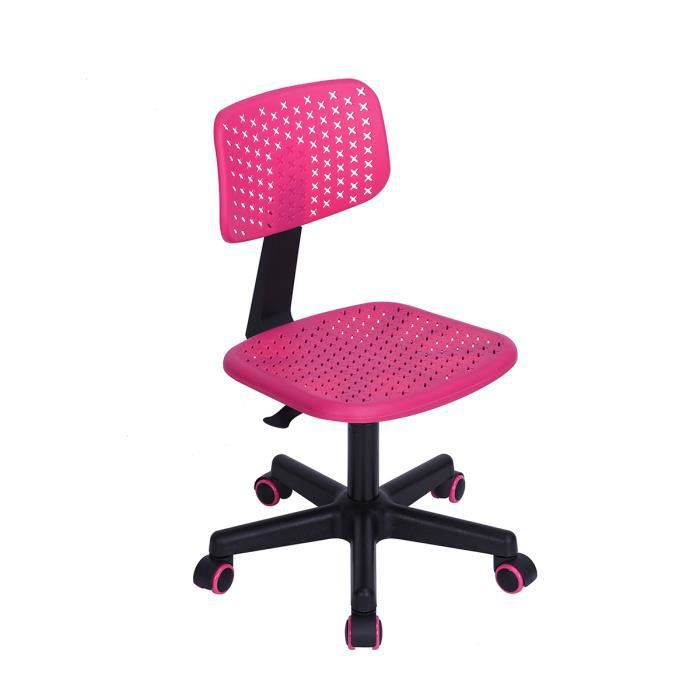 v l v chaise de bureau pour enfant plastique rose. Black Bedroom Furniture Sets. Home Design Ideas