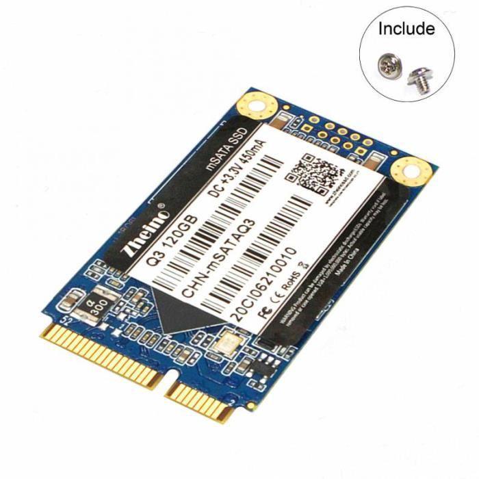 DISQUE DUR SSD interne SSD Q3 120Go MSATA 3D TLC NAND FLASH