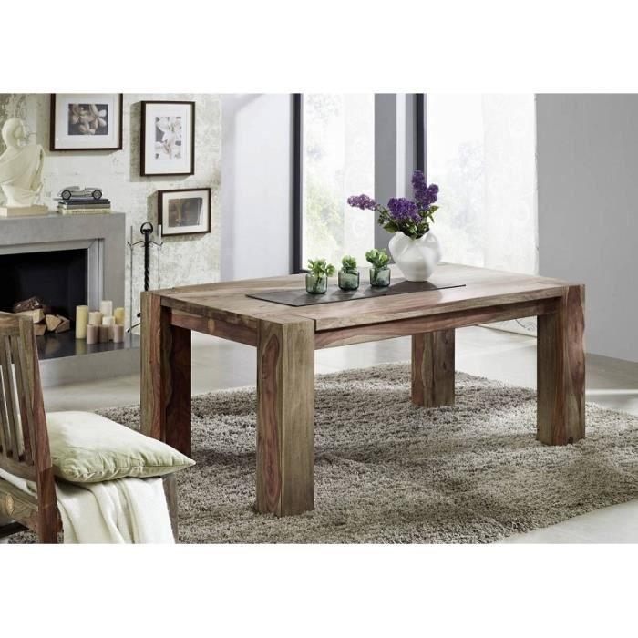 Élégant Bois Véritable-Table à manger 175 x 90 cm Palisander Sheesham table