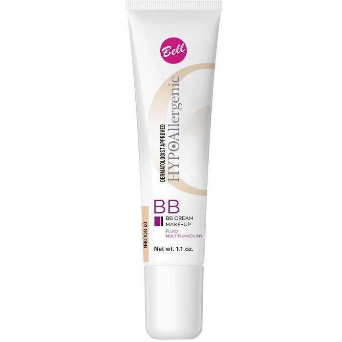 CORRECTEUR TEINT BB Crème Peau Sensible Hypoallergénique Beige Doré