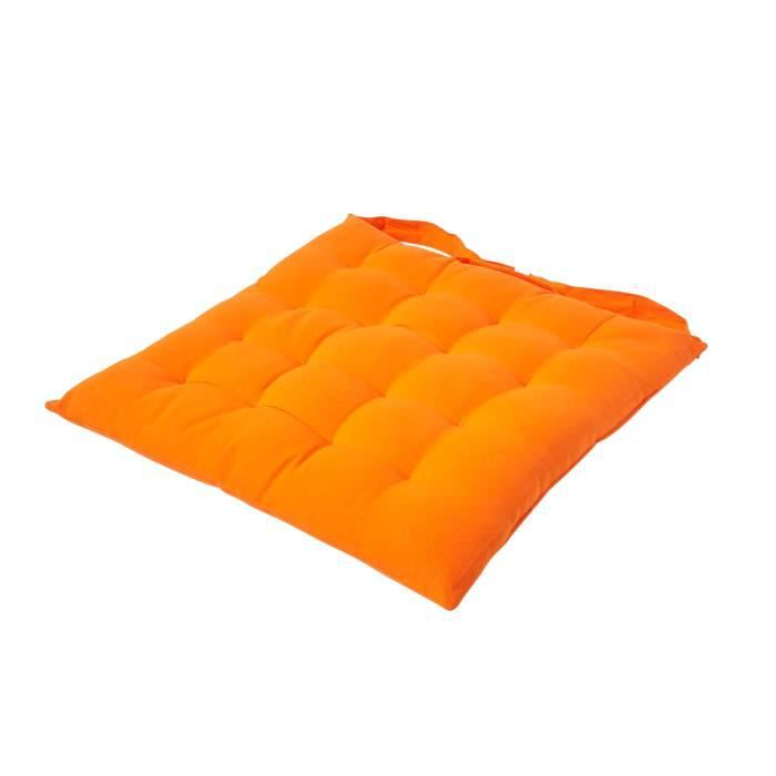 galette de chaise orange 40x40cm achat vente coussin de chaise cdiscount. Black Bedroom Furniture Sets. Home Design Ideas
