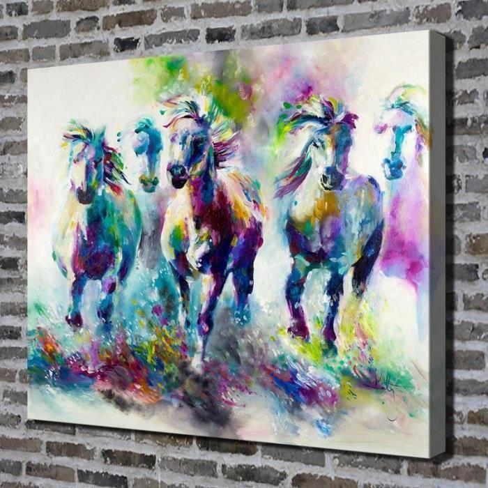 Home Décor Wall Art Peinture à l'huile Colorful