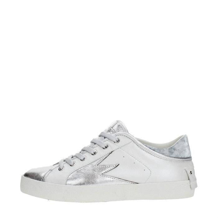 Crime Sneakers Femme SILVER/WHITE, 38