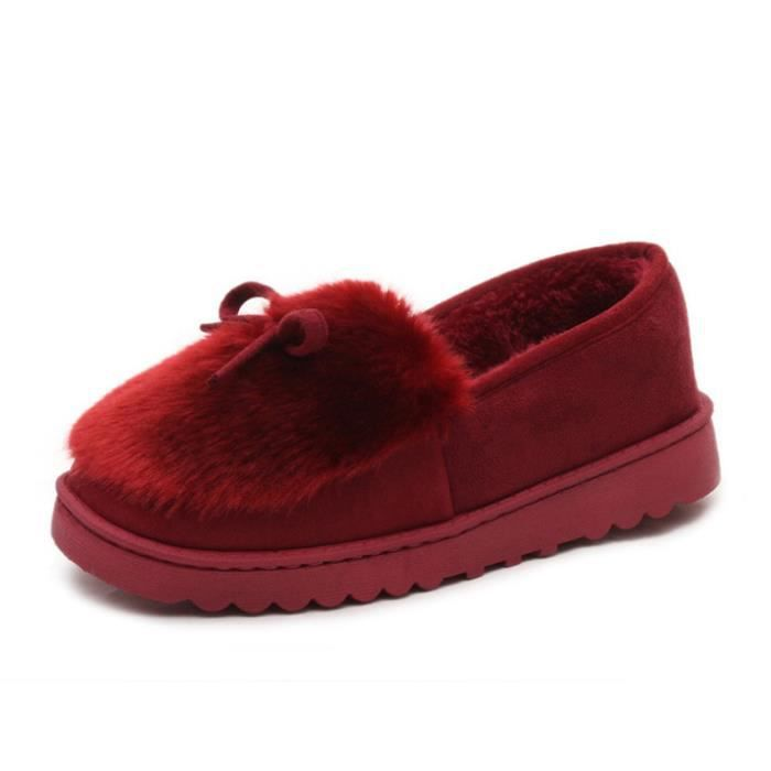 Peluche Fond gris Chaussure Rouge Femme Chaussures Pais Hiver jaune xz065rouge39 Bwys rose UxqAfZEAw