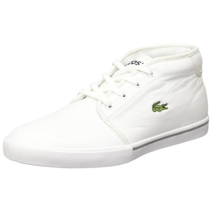 Homme Lacoste Ampthill LCR3 SPM Baskets Blanc