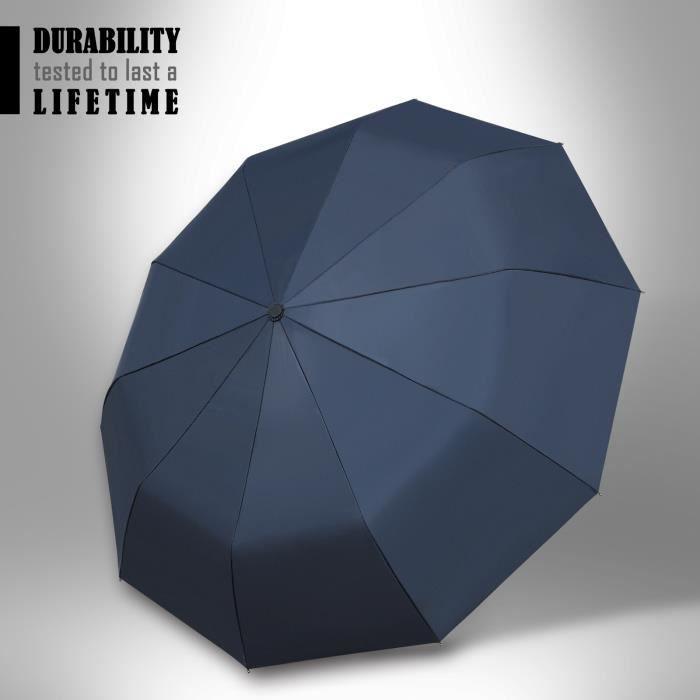 Silaite 12 Baleines 210T Parapluie Pliant Compact Ouverture et Fermeture Automatique Parapluie Homme//Femme Parapluie de Voyage en Fibre de Verre Incassable Coupe-Vent Bleu