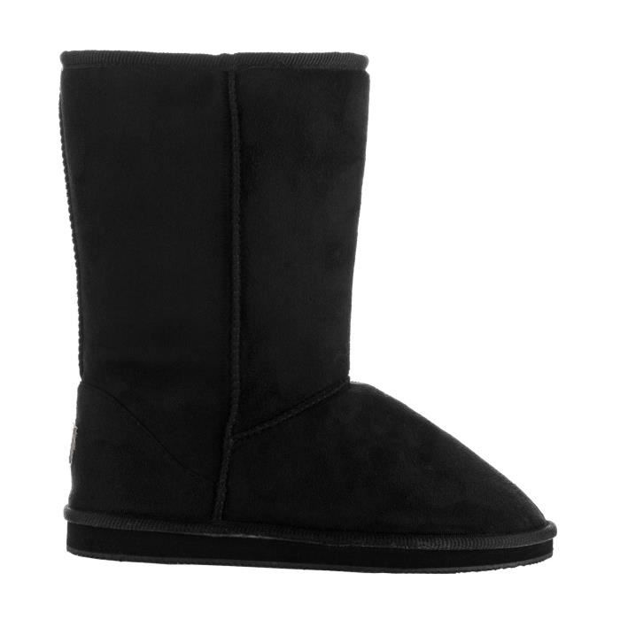 Salle de mode d'hiver Pull-Bottes mi-mollet - Comfort shearling Fur Lined Vegan Suede antidérapage Ru WNMNM Taille-36