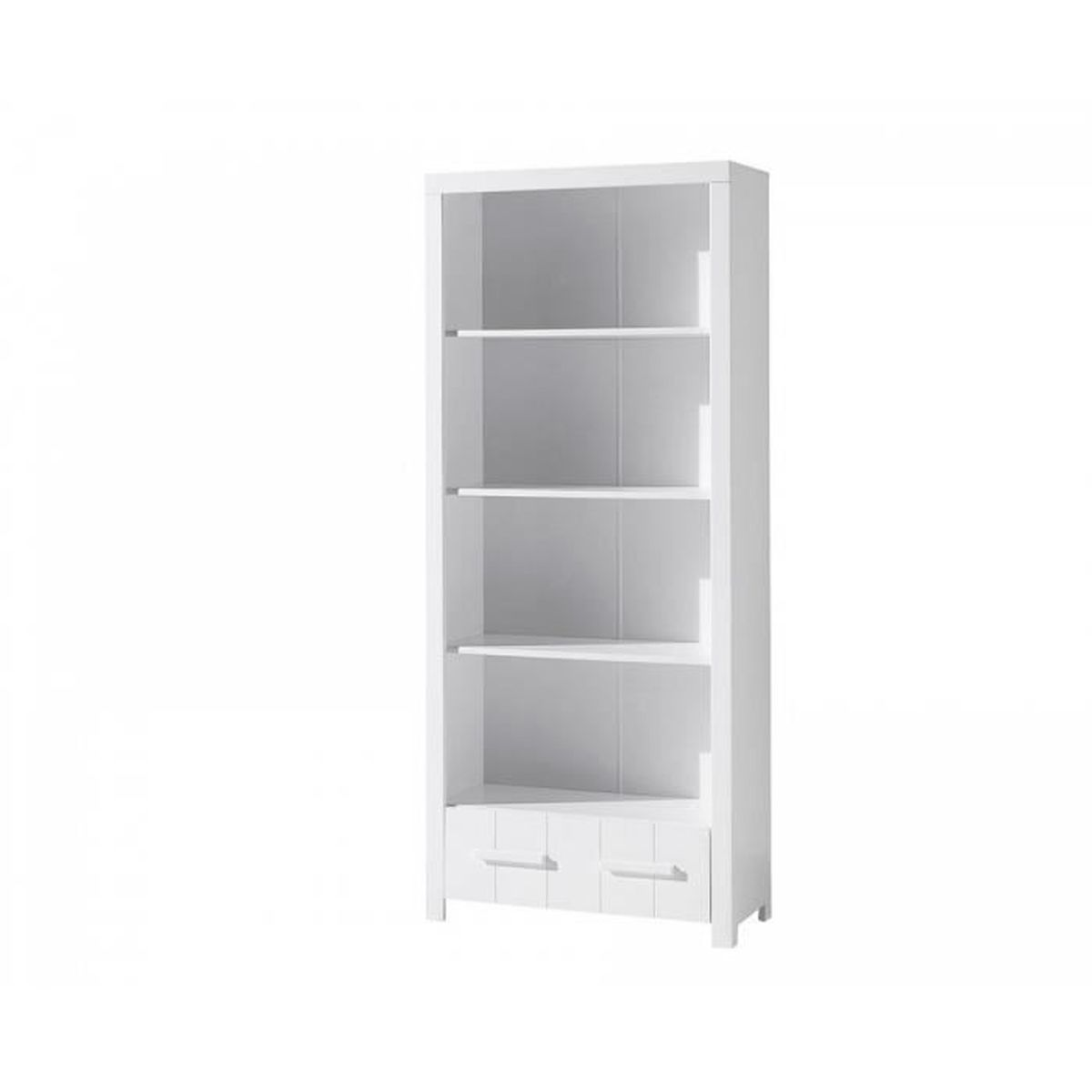 vipack biblioth que erik bois laqu blanc 3 tablettes et 1. Black Bedroom Furniture Sets. Home Design Ideas