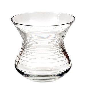 VASE - SOLIFLORE Cristal de Sèvres strombos Vase, Verre, 24x 24x