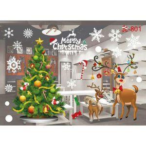 STICKERS DE NOËL Noël salle de séjour Xmas Santa Claus bonhommes de