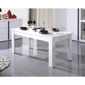 table salle a manger laque blanc - achat / vente table salle a