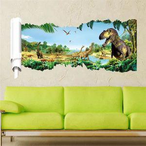 STICKERS Dinosaures 3d Stickers Muraux Jurassic Park Décora